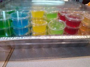 Full tray of Jell-O Shots, Ready for Transport