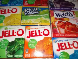 All the Jell-O Boxes